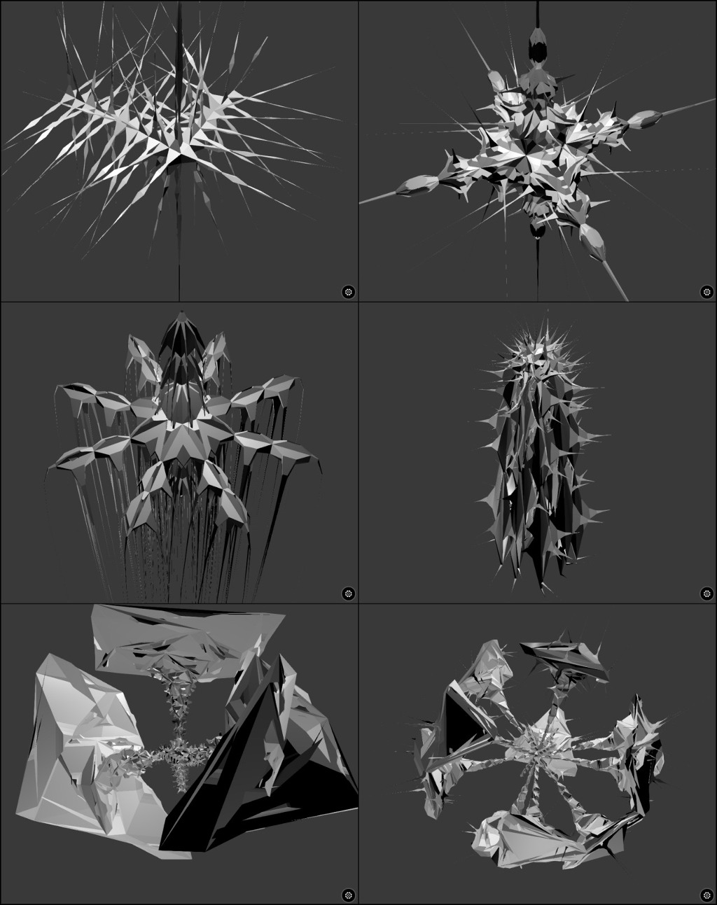 Generative meshes examples